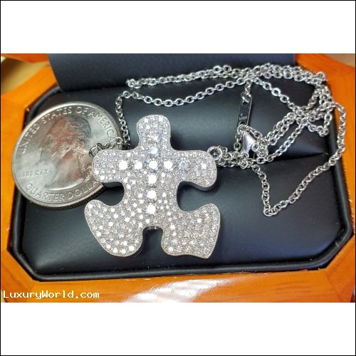 """Sold Psalm 63 """"Missing Piece to Complete Life"""" 283 Diamonds all D-F Vvs1-Vs2 set in Platinum by Jelladian"""