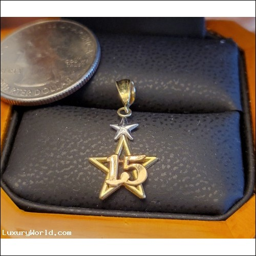 $200-$300 Estate 15 Star Pendant 14k Gold Without Reserve