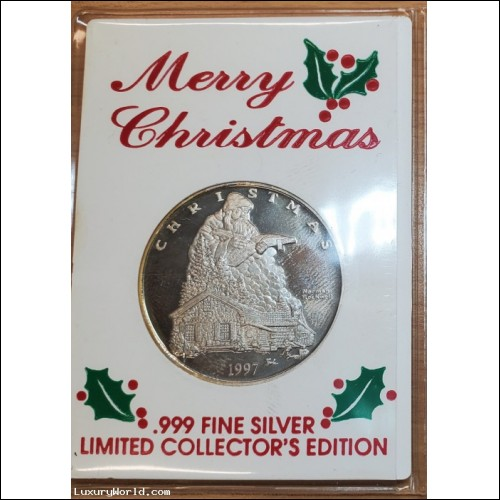 $25-$50 Merry Christmas Saturday Evening Post Norman Rockwell Art Fine Silver Coin $1 No Reserve Auction